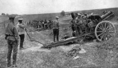 Artilleria rusa en Galitzia.