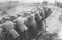 Soldados alemanes atrincherados