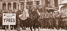 Soldados alemanes en belgica
