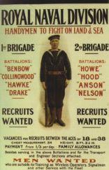 Cartel de reclutamiento de la Royal Naval Division.