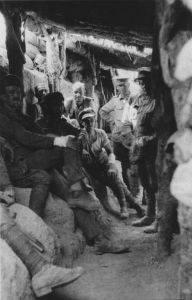 Captured_Turkish_trench_Lone_Pine_1915